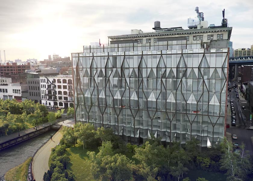 CGI Architectural Animation of the exterior of the 10 Jay Street project located in Brooklyn, New York