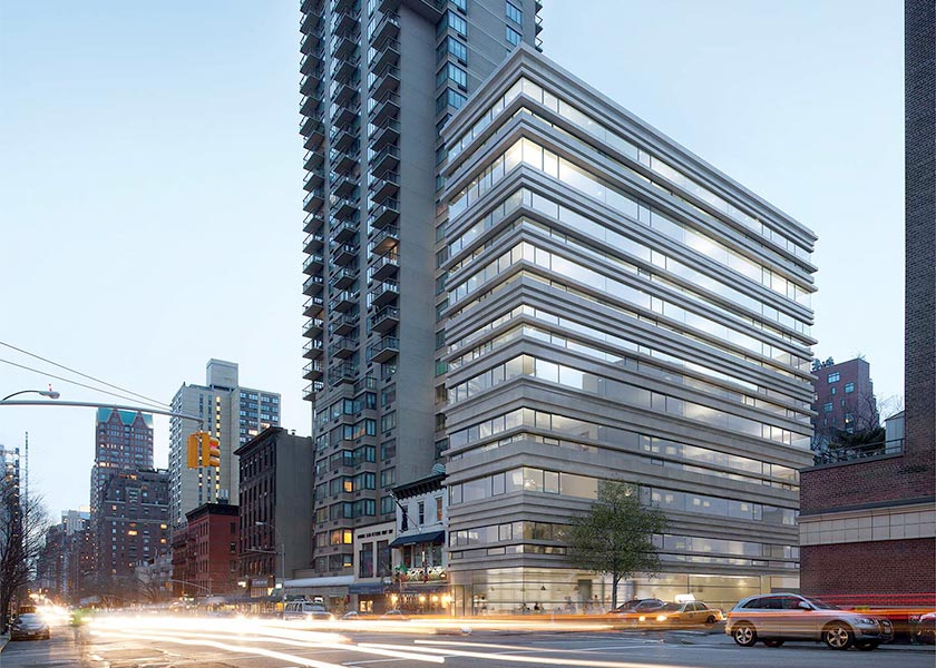 Architectural Rendering of the exterior of the 1444 Third Avenue project located on Manhattan's Upper East Side, New York City