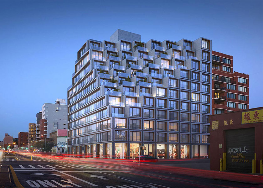 Architectural Rendering of the exterior of the 275 Fourth Avenue project located in Brooklyn, New York