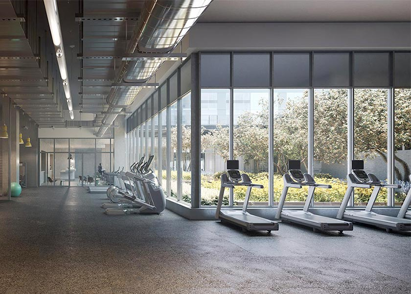 Architectural Rendering of the interior of the One Hill South project located in Washington DC