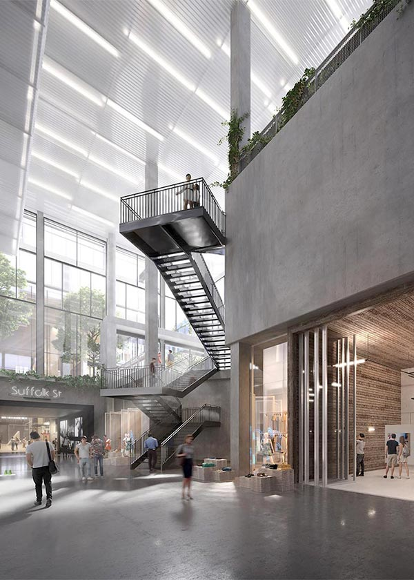 Architectural Rendering of the interior of The Market Line located on Manhattan's Lower East Side, New York City
