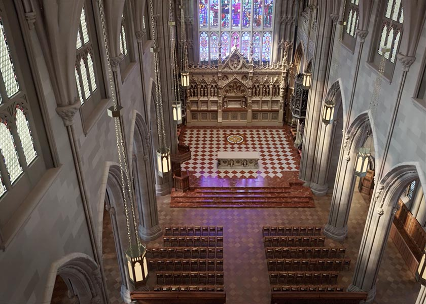 CGI Architectural Animation of the exterior of the The Trinity Church project located in Wall Street, New York City