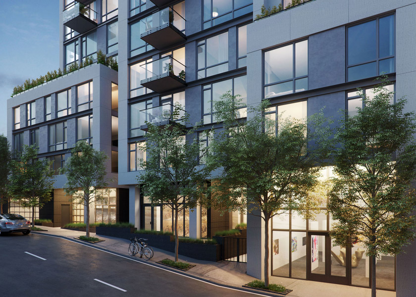 Architectural Rendering of the exterior of the The Austin project located in San Francisco, California