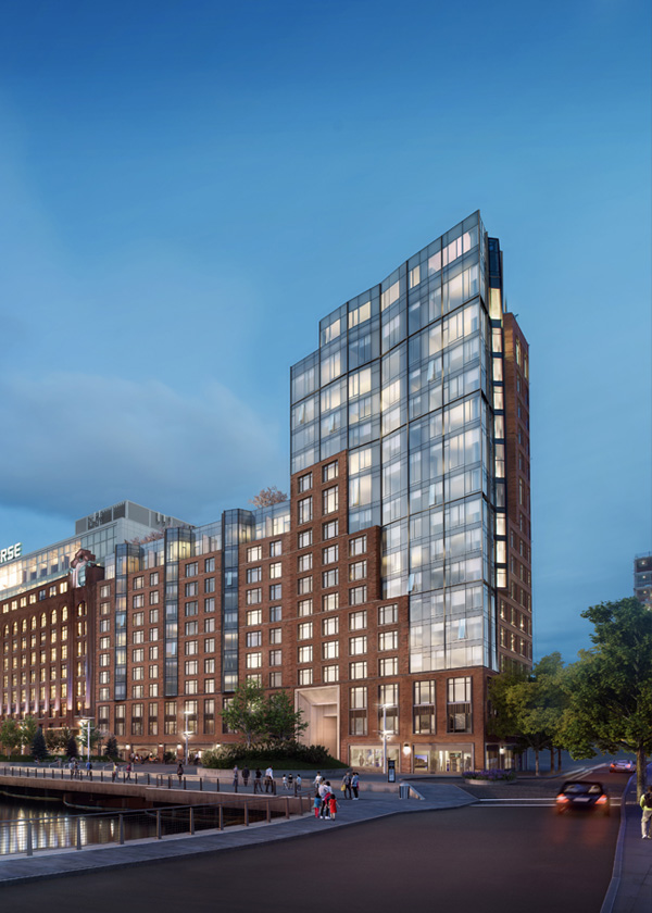 Architectural Rendering of the exterior of the 131 Beverly Street project located in Boston, Massachusetts